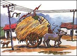 ವಿದ್ಯುತ್ ತಂತಿಗಳ ಕೆಳಗೆ ಓವರ್ ಲೋಡಾದ ವಾಹನಗಳನ್ನು ತೆಗೆದುಕೊಂಡು ಹೋಗಬೇಡಿ.Do not take over loaded vehicles under electric wires